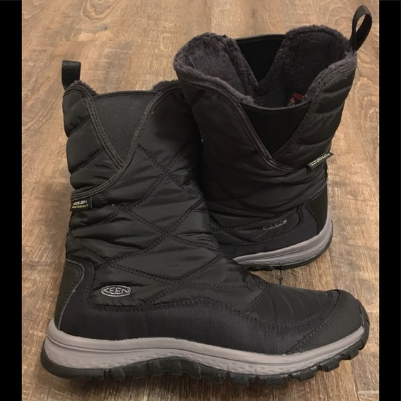 Keen Terradora Pull On Mid Calf Black Boots Sz 6M